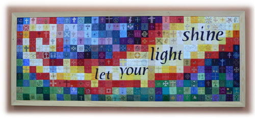 Let your light shine - quiltwork tapestry
